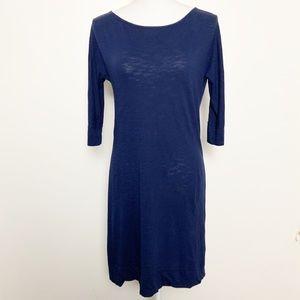 LILLY PULITZER- Pina Cotton Navy T-Shirt Dress. XS